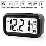 Calendario Sensore per Illuminazione Automatica Funzione Snooze Trevi SLD 3068 S Orologio Termometro Digitale con Sveglia Nero Grande Display LCD Unica