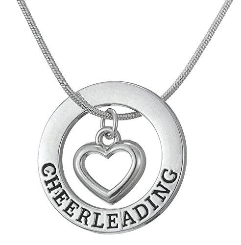 Lemegeton Cheerleading-Anhänger, verstellbare Halskette, Schmuck für Teenager, Mädchen, Frauen