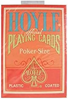 Hoyle Pink Playing Cards Poker Size Regular index by Bicycle