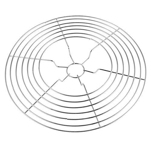 Hemoton - Sottopentola per stufe, in acciaio INOX, antiscivolo, per wok, per cucina, casa, barbecue, picnic, colore: argento