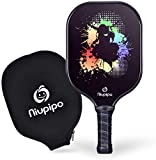 Pickleball Paddle, USAPA Approved Graphite Pickleball Racket with Carbon Fiber Face, Polypropylene Honeycomb Core, Ultra Cushion, 4.5-Inch Grip, Lightweight 8 Ounce with Cover, Ideal for Beginners