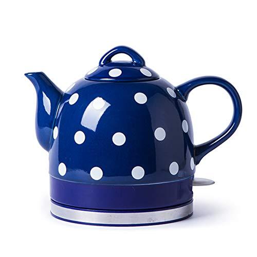 1L Hausgeräte Elektrischer Wasserkocher Drahtlose Keramik Krug mit Automatische Abschaltung und Trockengehschutz Schnellkochfunktion,ceramic,Rot und blau 1000 W,keramische,Blue