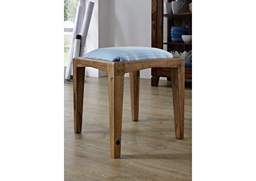 MASSIVMOEBEL24.DE Palisander Holz Möbel massiv lackiert Hocker Sheesham Massivmöbel Holz massiv braun Ancona #113