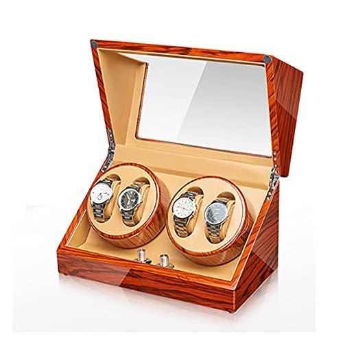 Caja De Bayador De Doble Reloj para Relojes Automáticos,para Mantener Y Mostrar Relojes Lo Que Sea (Size : 4+0)