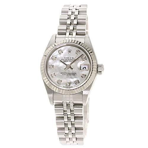 [ロレックス]デイトジャスト 10P ダイヤモンド 79174NG 腕時計 ステンレススチール/SS/K18WG レディース (中古)