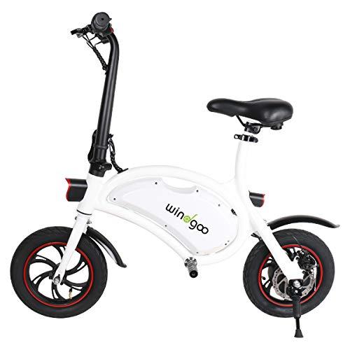 Windgoo Elektroroller, Elektro Scooter mit 350W Motor/6.0 Ah Batterie, Höchstgeschwindigkeit 25Km/h/Maximale Belastung 120kg, klappbar E Scooter (Weiß)