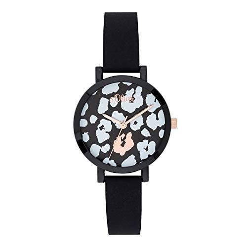 s.Oliver Mädchen Analog Quarz Uhr mit Silikon Armband SO-3728-PQ