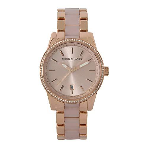 Michael Kors Ritz-Analogue Quartz Watch con Correa en Tono Dorado Rosa para Mujer - MK6349