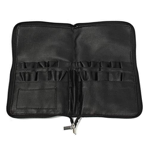 zreal Pro PU Leather Makeup Bag 28 poches Brosses Cosmétiques Étui Phone portautensile