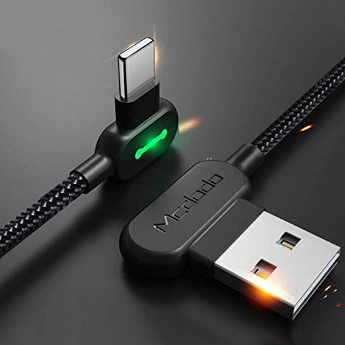 N-B 1.8m3m 2.4A Lightning Cable MFi Certified USB Fast Charging Cable 90 Degree L E D Mobile Phone Charger Cable Data Cable, The Largest Fast Charging Data Synchronization Cable For Applei Phones