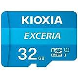Kioxia (キオクシア) 32GB microSD Exceria フラッシュメモリーカード アダプター付き U1 R100 C10 フルHD 高速読み取り 100MB/秒 LMEX1L032GG2