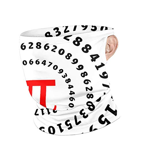 Cover Education Mathematics Math Pi Spiral Circumference for Face Mask Bandana Ear Loops Face Balaclava Scarf Neck Gaiters for Dust Mask Men Women