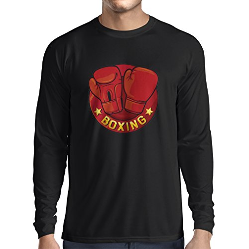 lepni.me T-shirts voor heren, lange mouwen, MMA, kickboxen, box, handschoenen