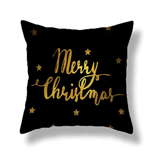 Christmas Decoration Pillow Case Letter Cushion Cover Flannel Thickened Backrest Cover Suitable For Office Home Cushion