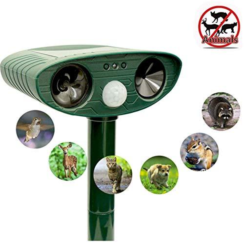 Chunse Ultraschall Tiervertreiber, Solartier Repellent Ultraschall-Abschreckungsmittel Mit Ultraschall Bewegungssensor Und Blinklicht Für Katzen Hunde Füchse
