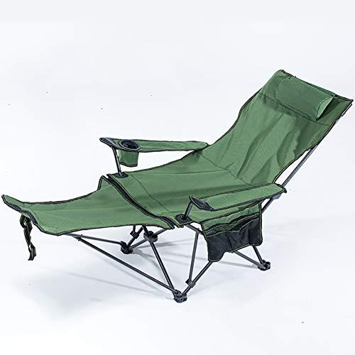 Admir Einstellbare Tragbar Camping Stuhl,Stabiler Liegestuhl Für Outdoor Beach Picnic Oder Office Nap,Klappbar Liegestuhl Mit Fußstütze D