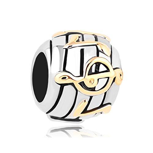 Sug Jasmin Love Music Notes Charm Beads for Bracelets
