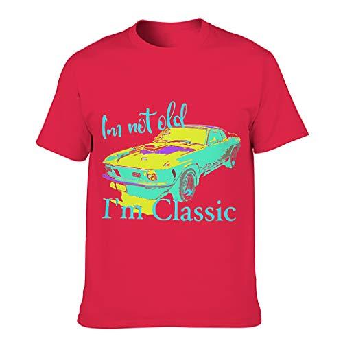 Herren Baumwoll-T-Shirt Ich Nicht alt. Im Klassiker Coole IndividualitätHautfreundlich - Alphabet Thema Hemd red1 s