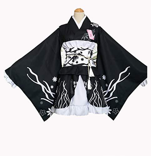 Evin Ropa Japonesa Festival de Verano del Lolita del Anime Kimono Kimono Yukata Hermana loli Lindo Traje Cospaly,XXXL