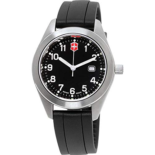 Victorinox Garrison Black Dial Silicone Strap Ladies Watch 26033CB