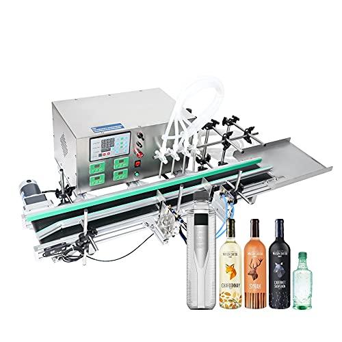 Máquina de llenado de líquidos Llenadora de Botellas 3-500ml, Máquina de Llenado de Líquidos Digital Embotelladora para Agua Vino Cerveza Perfume, 4 cabezales