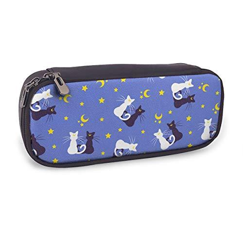 Pencil Case Big Capacity Sailor Moon Kitties Pen Bag Durable Makeup Pouch Students Stationery