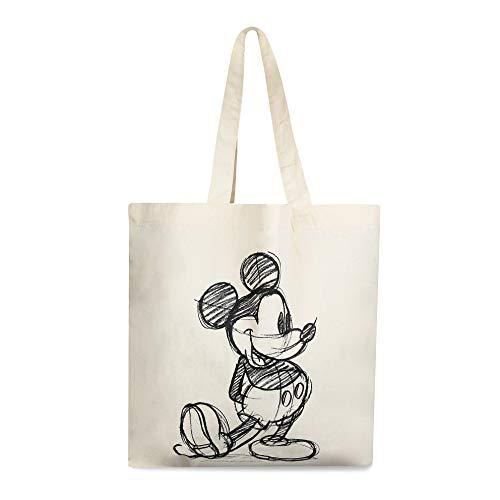 DisneyMickey SketchUnisex adultoBolsa de tela y de playaBeige (Natural)39x35x13.5 Centimeters (W x H x L)