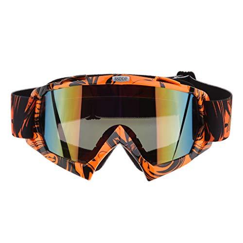 H HILABEE Gafas de Motocicleta Anti-Scratch Lens Lente a Prueba de Viento / UV400 - Color naranja