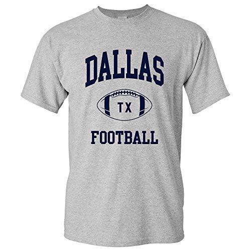 Dallas Classic Football Arch Basic Cotton T-Shirt - X-Large - Sport Grey
