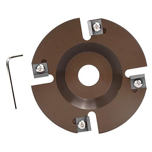 GOTOTOP Disco de Corte de pezuña, trituradora de pezuña de aleación de Aluminio Máquina de Amoladora de pezuña con 4 Cabezales de Corte más Afilados para Ganado ovino(Cortador de 4 Cuchillas)