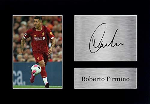HWC Trading Roberto Firmino A4 Ungerahmt Signiert Gedruckt Autogramme Bild Druck-Fotoanzeige Geschenk Für Liverpool Fußball Fans