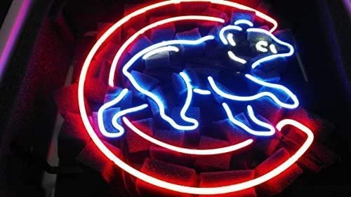 Amymami Beer Bar17inx13in Chicago Sports Cub Logo2 Neon Team SALENEW [Alternative dealer] very popular Sig