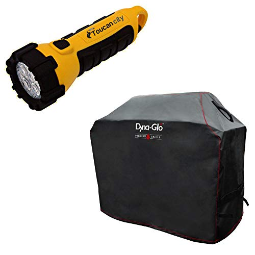 Toucan City LED Flashlight and Dyna-Glo Premium 4-Burner Gas Grill Cover DG400C