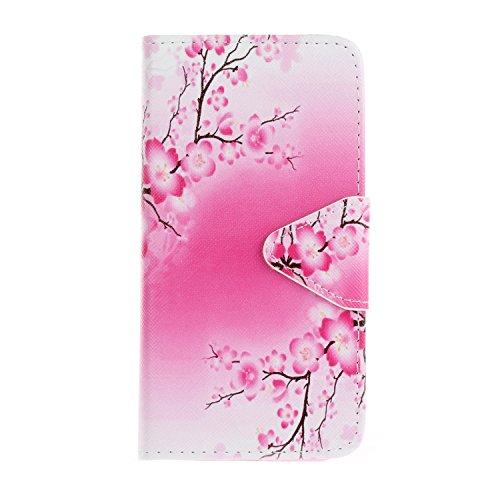 Cozy-Hut-Schutzhülle für iPhone 5C, bunt bedruckt, PU-Leder, dient auch als Brieftasche für Kreditkarten und als Handy-Ständer.