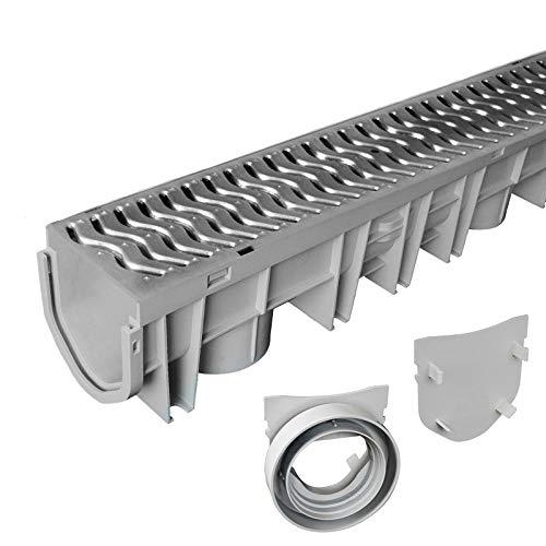 Source 1 Drainage - Canale di scarico con griglia in acciaio zincato