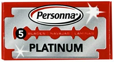Personna Double Edge Stainless Steel, 5 Razor Blades by Personna
