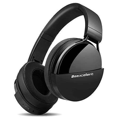 Cuffie Wireless Bluetooth, Cuffie Over Ear Audio ad Alta Fedeltà Hi-Fi 40 Ore Bluetooth Cuffie da Studio con Microfono CVC6.0 Comode Cuffie DJ 3.5mm Jack per Corso Online TV Cellullari PC