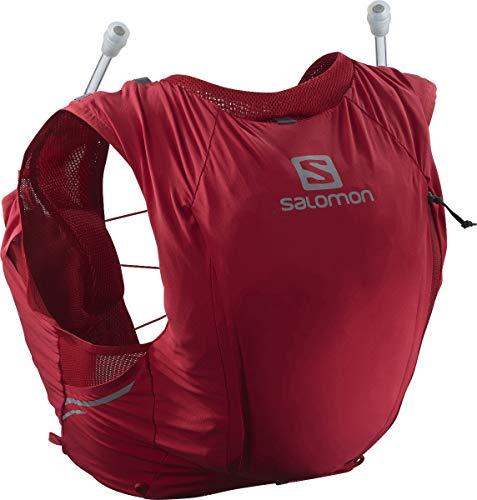 Salomon Womens Sense Pro 10 Set Running Hydration Vest, Red Chili/Ebony, X-Large