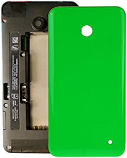 CAIFENG Battery Cover Housing Shell Housing Battery Back Cover + Side Button for Nokia Lumia 635 (Orange) Replacement Parts (Color : Green)