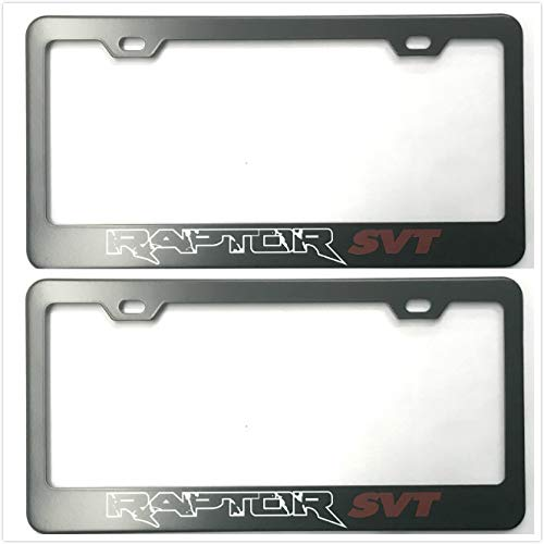 Qptimum RAPTOR SVT F150 TRUCK 4X4 RACING OFF ROADING Racing Stainless Steel License Plate Frame Cover For Ford F150 (2)