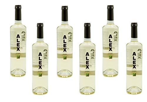 Alex, Vino blanco viura. D.O. Navarra, Caja de 6 botellas.