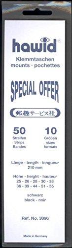 切手用マウント(黒地) お徳用セット 10種各5枚セット