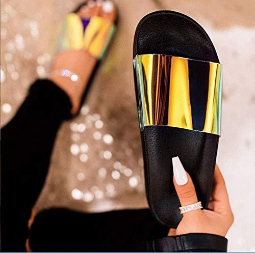 Sandalen Dames Slippers Dames Schattig Gelei Zomer Transparant Vrouwelijk Lichtgewicht Helder Strand Sandalen