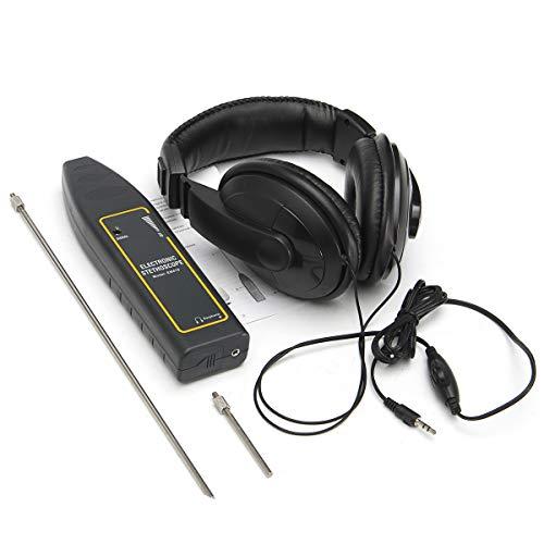 Wiivilik Wasserrohr Elektronisches Stethoskop Kopfhörer-Erfassungsgeräte Lecksucher Kit Mess- und Analyse-Instrumente