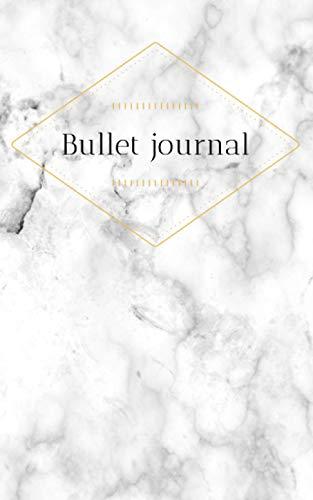 Bullet journal mármol: Cuaderno punteado 120 páginas