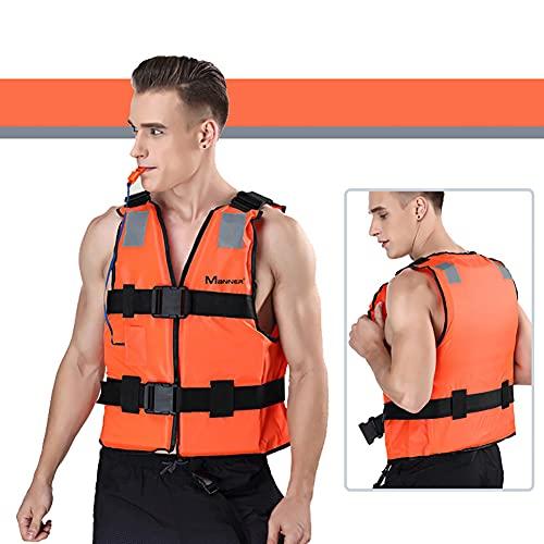XER Chalecos De Baño De Adultos Profesionales, Chalecas De Vida De Ayuda De Flotabilidad, Chaqueta De Seguridad De Flotación De Snorkel Portátil Unisex para Snorkel, Kayak, Navegación.