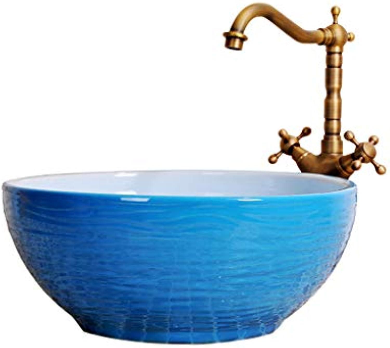 Retro einfache Waschbecken über Aufsatzbecken Badezimmer Keramikbehlter Waschbecken Hnde waschen Pool Waschbecken