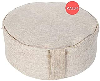 KALLM 100% Buckwheat Hulls Zen Meditation Zafu Round Pillow
