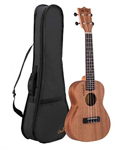 23 Inch Ukelele profesional para niños de madera de caoba y palisandro, pequeño guitarra infantil para principiantes