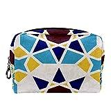 Neceser de Maquillaje para Neceser Estuche de Viaje cosmético Organizador Estuche para cosméticos Monedero,Azulejos de mármol con Estrellas Estilo marroquí